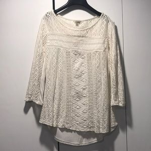 Lucky Brand off white tunic - size S